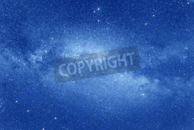 Fototapeta Gwiaździste niebo z wielu gwiazd i Droga Mleczna na tle kosmicznej.