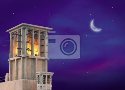 Half Moon i wieża wiatr w Dubaju