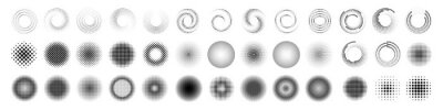 Fototapeta halftone dot circle frame vector. round dotted pattern geometric background