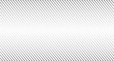 Fototapeta Halftone dots. Monochrome vector texture background. Flat vector illustration isolated on white