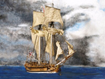 Fototapeta Halifax na morzu