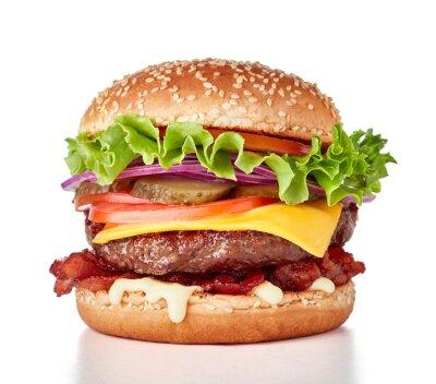Fototapeta hamburger isolated on white background