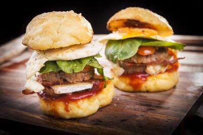 Fototapeta Hamburger Sliders