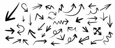 Fototapeta Hand drawn arrow mark icons vector