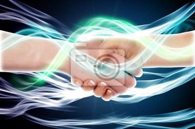 Fototapeta Handshake dwóch ludzi biznesu