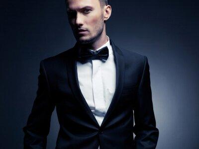 Fototapeta Handsome stylowy mężczyzna