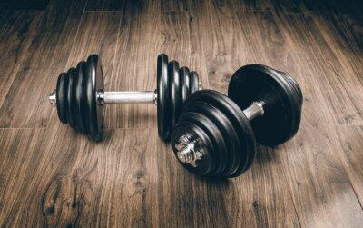 Fototapeta hantle dla fitness