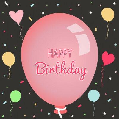 Fototapeta Happy Birthday Greeting Card And Party Invitation