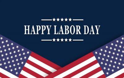 Fototapeta Happy Labor Day background with USA flag