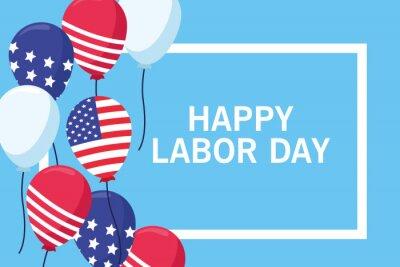 Fototapeta Happy labor day card, USA holiday