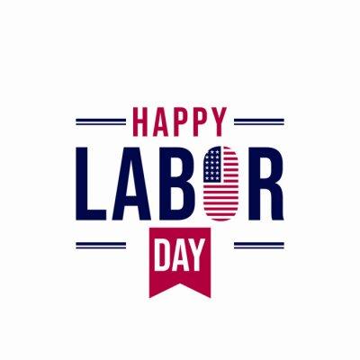 Fototapeta Happy Labor Day for American design