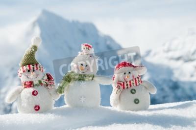 Fototapeta Happy winter friends