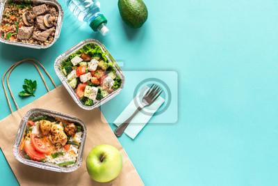 Fototapeta Healthy food delivery