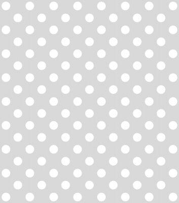 Fototapeta Hellgrauer Hintergrund mit weißen Punkten