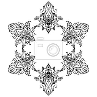 Fototapeta Henna Tatuaż Mandali Mehndi Styledecorative Wzór W