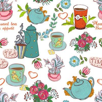 Fototapeta herbata bez szwu