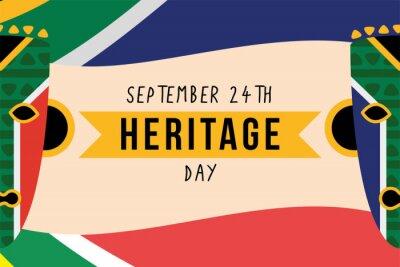 Fototapeta heritage day poster