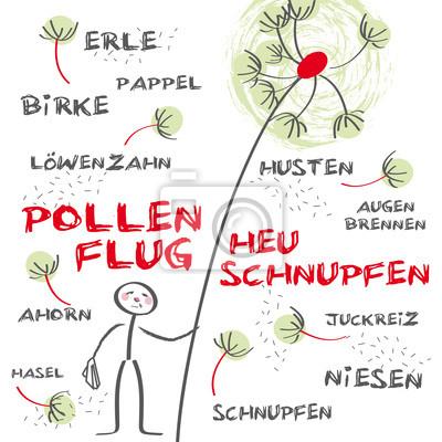 Fototapeta Heuschnupfen Allergie Pollenflug Grün