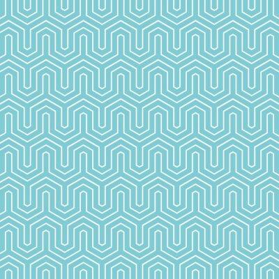 Fototapeta Hexagon chevron pattern background. Retro vector pattern.