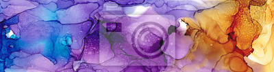 Fototapeta High quality . Alcohol ink modern abstract painting, contemporary details art.