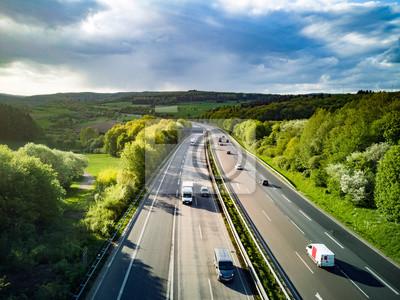 Fototapeta Highway in Germany