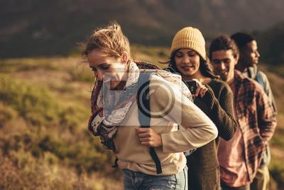 Fototapeta Hiking trip content for social media