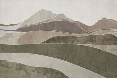 Fototapeta Hills with texture. Brown background