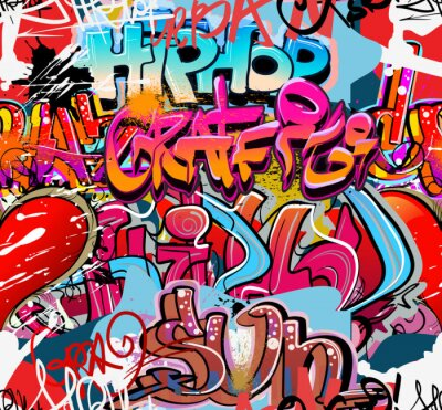 Fototapeta Hip hop tła miejskiego Graffiti