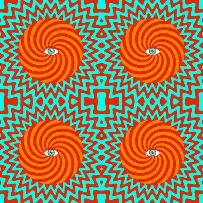 Fototapeta hipnotyczny wzór retro bezszwowe