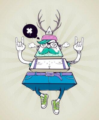 Fototapeta Hipster dziwaczne postaci trójkąta