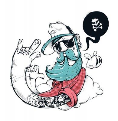 Fototapeta Hipster graffiti ilustracji