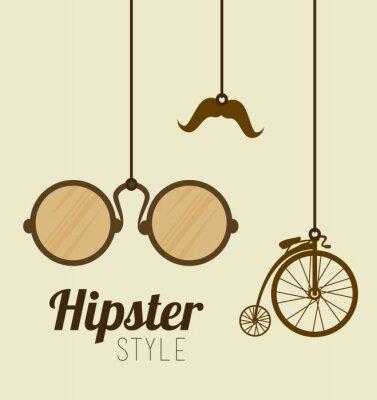 Fototapeta Hipster projektowania, ilustracji wektorowych.
