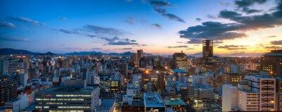 Fototapeta Hiroshima Skyline bei Sonnenuntergang