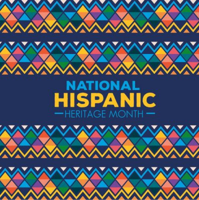 Fototapeta hispanic and latino americans culture, national hispanic heritage month in september and october vector illustration design