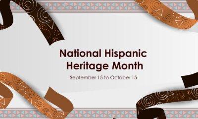 Fototapeta Hispanic National Heritage Month in September and October. Hispanic and Latino culture. Latin American patterns.