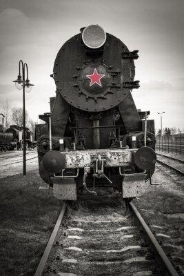 Fototapeta Historic steam locomotive