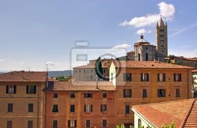 Historic Włoska wieś, Massa Marittima, Włochy