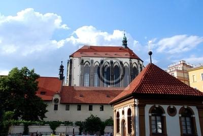 Fototapeta Historyczne centrum Pragi w Czechach z katedry