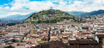 Fototapeta Historyczne centrum starego miasta Quito