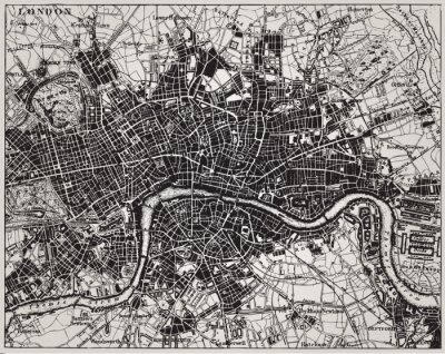 Fototapeta Historyczne mapy Londynie.
