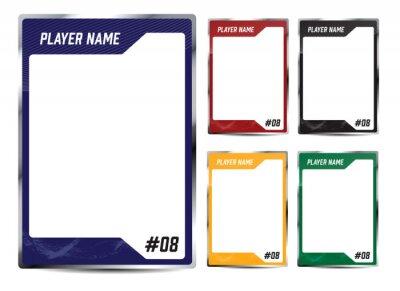 Fototapeta Hockey player card frame template design
