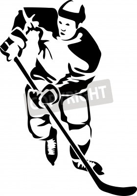 Fototapeta hockey player logo