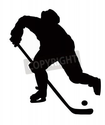 Fototapeta hokeista gra na białym tle z Pucka.