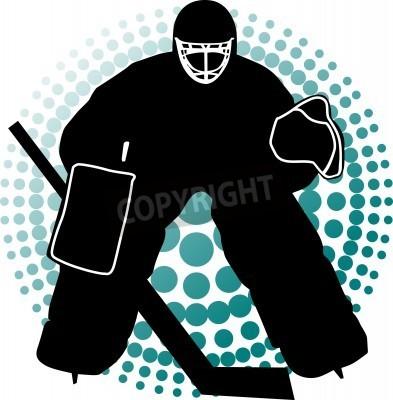 Fototapeta Hokej bramkarza ma chronić brama;
