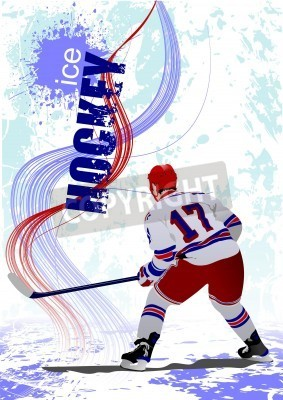 Fototapeta Hokej na lodzie graczy plakatu.