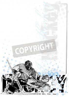 Fototapeta hokej na lodzie tło 3