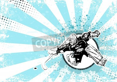 Fototapeta hokej na lodzie tło plakatu retro