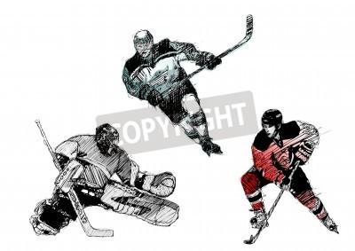 Fototapeta hokej na lodzie trio