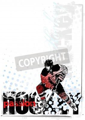 Fototapeta hokej na lodzie w tle 1