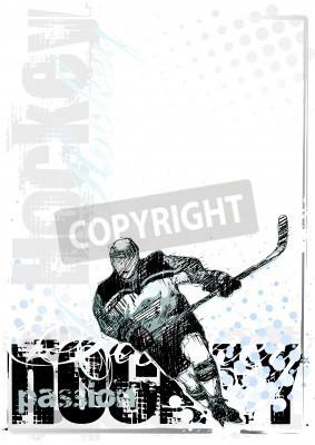 Fototapeta hokej na lodzie w tle 2